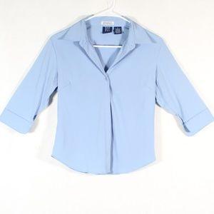 DCC Stretch Women's Button Up Blouse Dress Shirt